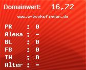Domainbewertung - Domain www.e-booksfinden.de bei domainwert1.de