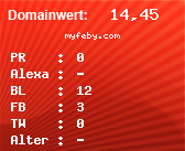 Domainbewertung - Domain myfeby.com bei domainwert1.de