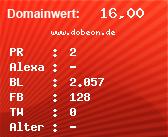 Domainbewertung - Domain www.dobeon.de bei domainwert1.de