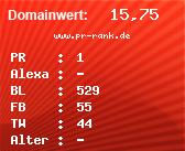 Domainbewertung - Domain www.pr-rank.de bei domainwert1.de