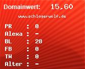 Domainbewertung - Domain www.schlagerwolf.de bei domainwert1.de