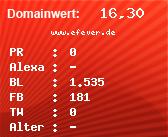 Domainbewertung - Domain www.efever.de bei domainwert1.de