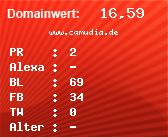 Domainbewertung - Domain www.camudia.de bei domainwert1.de
