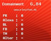 Domainbewertung - Domain www.playitas.de bei domainwert1.de