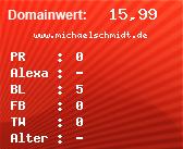 Domainbewertung - Domain www.michaelschmidt.de bei domainwert1.de