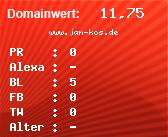 Domainbewertung - Domain www.jan-kos.de bei domainwert1.de