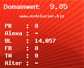 Domainbewertung - Domain www.andalusier.biz bei domainwert1.de