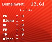 Domainbewertung - Domain l-u-k.eu bei domainwert1.de