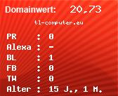 Domainbewertung - Domain tl-computer.eu bei domainwert1.de