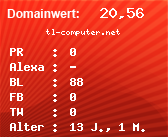 Domainbewertung - Domain tl-computer.net bei domainwert1.de