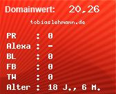 Domainbewertung - Domain tobiaslehmann.de bei domainwert1.de