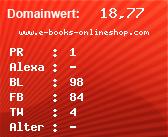 Domainbewertung - Domain www.e-books-onlineshop.com bei domainwert1.de