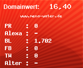 Domainbewertung - Domain www.mena-water.de bei domainwert1.de