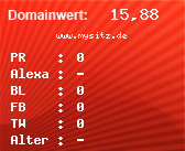Domainbewertung - Domain www.mysitz.de bei domainwert1.de