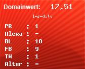 Domainbewertung - Domain l-s-d.tv bei domainwert1.de