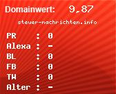 Domainbewertung - Domain steuer-nachrichten.info bei domainwert1.de
