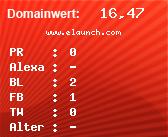 Domainbewertung - Domain www.elaunch.com bei domainwert1.de