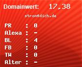 Domainbewertung - Domain strom4dich.de bei domainwert1.de