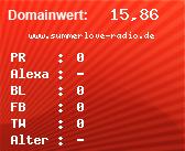 Domainbewertung - Domain www.summerlove-radio.de bei domainwert1.de