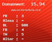 Domainbewertung - Domain www.solarmodule.org bei domainwert1.de