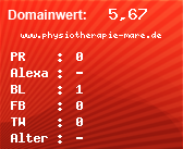 Domainbewertung - Domain www.physiotherapie-mare.de bei domainwert1.de