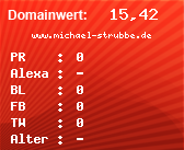Domainbewertung - Domain www.michael-strubbe.de bei domainwert1.de