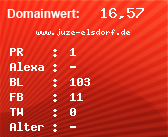 Domainbewertung - Domain www.juze-elsdorf.de bei domainwert1.de