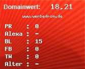 Domainbewertung - Domain www.werbedrom.de bei domainwert1.de