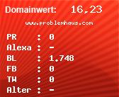 Domainbewertung - Domain www.problemhaus.com bei domainwert1.de