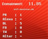 Domainbewertung - Domain ps3-gewinne.de bei domainwert1.de
