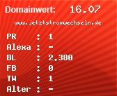 Domainbewertung - Domain www.jetztstromwechseln.de bei domainwert1.de