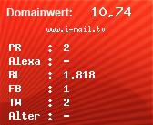 Domainbewertung - Domain www.i-mail.tv bei domainwert1.de