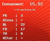 Domainbewertung - Domain r-b-werbung.de bei domainwert1.de