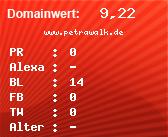 Domainbewertung - Domain www.petrawalk.de bei domainwert1.de