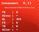 Domainbewertung - Domain www.bizsearchdirectory.com bei domainwert1.de