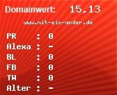 Domainbewertung - Domain www.mit-ein-ander.de bei domainwert1.de