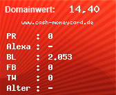 Domainbewertung - Domain www.cash-moneycard.de bei domainwert1.de