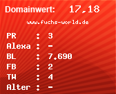 Domainbewertung - Domain www.fuchs-world.de bei domainwert1.de