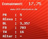 Domainbewertung - Domain www.ikt-seminare.de bei domainwert1.de