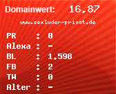 Domainbewertung - Domain www.sexluder-privat.de bei domainwert1.de