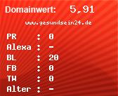 Domainbewertung - Domain www.gesundsein24.de bei domainwert1.de