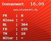 Domainbewertung - Domain www.steampakt.de bei domainwert1.de