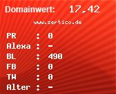 Domainbewertung - Domain www.zertico.de bei domainwert1.de