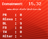 Domainbewertung - Domain www.akcp-distribution.de bei domainwert1.de