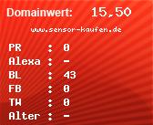 Domainbewertung - Domain www.sensor-kaufen.de bei domainwert1.de