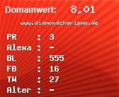 Domainbewertung - Domain www.diamondcharisma.de bei domainwert1.de