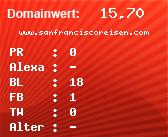 Domainbewertung - Domain www.sanfranciscoreisen.com bei domainwert1.de