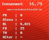 Domainbewertung - Domain www.rueckabwicklung24.de bei domainwert1.de