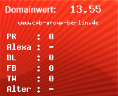 Domainbewertung - Domain www.cmb-group-berlin.de bei domainwert1.de