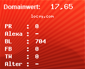 Domainbewertung - Domain locvy.com bei domainwert1.de